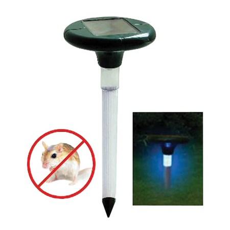 Odpuzovač krtků a hrabošů solární vibrační MR13S s LED lampou