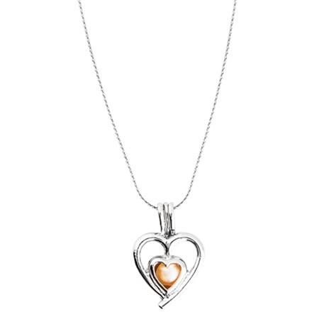 Perla přání v perlorodce - přívěšek srdce