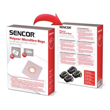 Sáček SENCOR SVC 8YL/VT Micro 5ks do vysavače