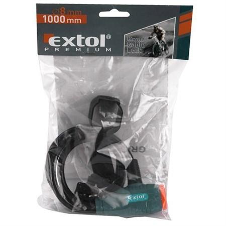 Zámek na kolo - lanko 8x1000mm EXTOL