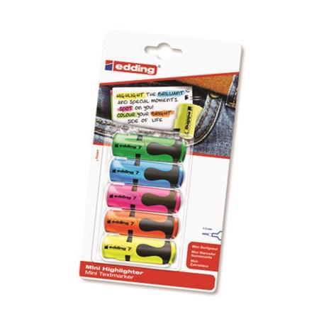 Zvýrazňovač mini 5 barev Edding e7/5S