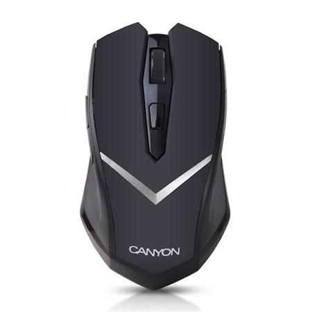 Myš PC bezdrátová CANYON CNE-CMSW3 černá