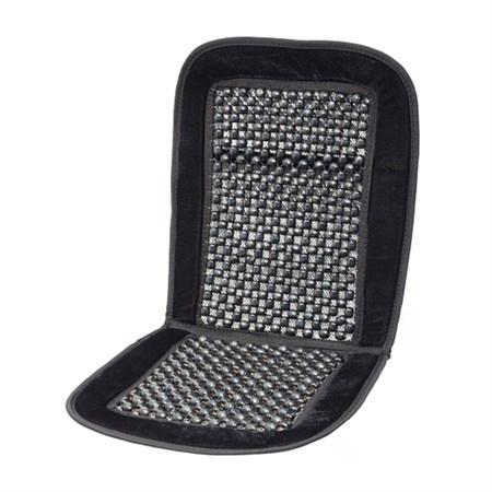 Potah sedadla kuličkový s lemem černý 93x40cm