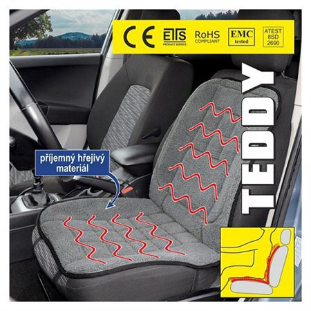 Potah sedadla 12V TEDDY vyhřívaný s termostatem