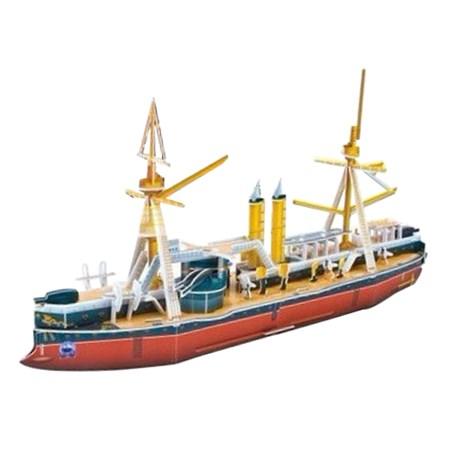 Puzzle 3D Obrněná loď  - fregata z 19. století Dingyuan ,  papírové