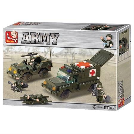 Stavebnice SLUBAN ARMY SANITKA S DŽÍPEM M38-B6000