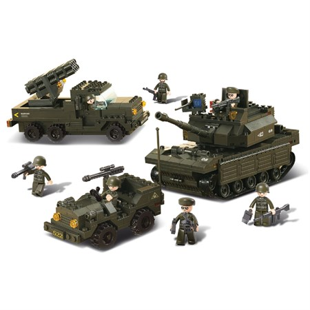 Stavebnice SLUBAN ARMY SET M38-B6800
