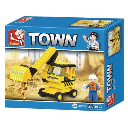 Stavebnice SLUBAN TOWN BAGR M38-B0176
