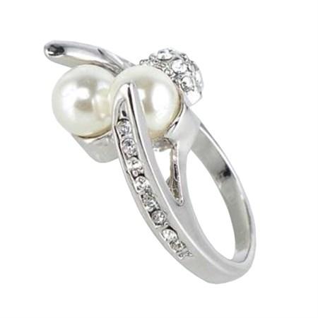 Prsten Shell Pearl barva stříbrná 57mm