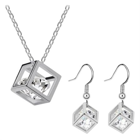 Šperk Set Cubic Zirkon, stříbrná barva