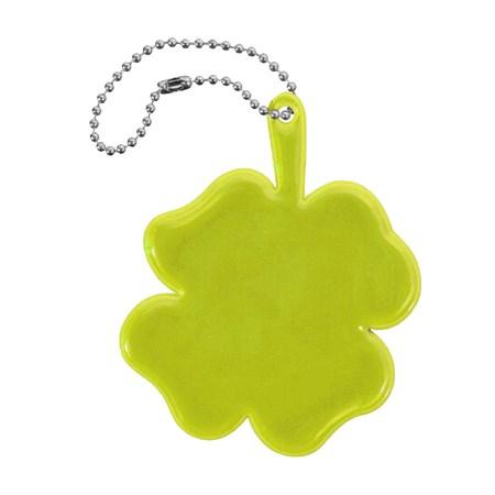 Reflexní přívěšek ČTYŘLÍSTEK žlutý