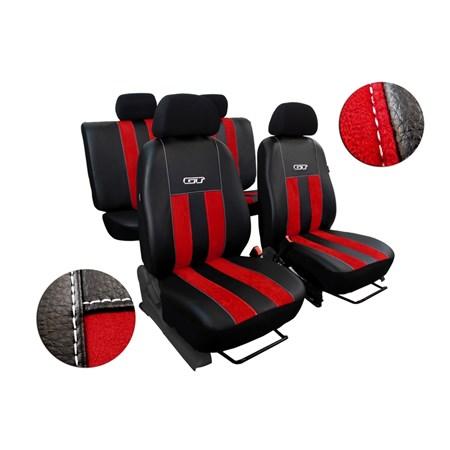 Autopotahy kožené s alcantarou GT červené