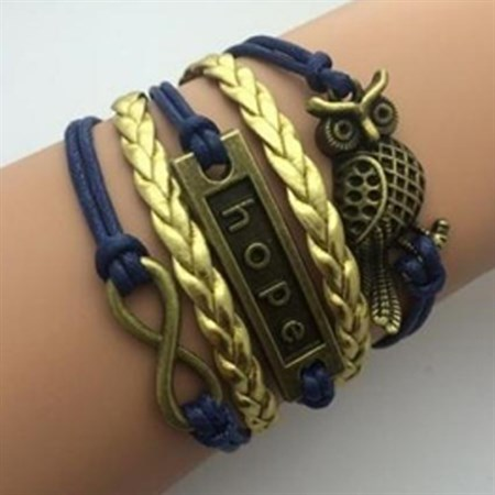 Šperk náramek Infinite modrá 2