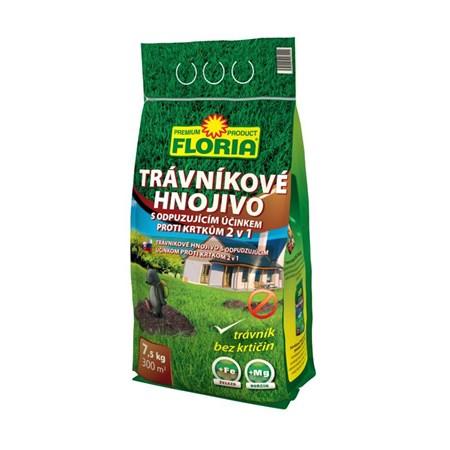 Hnojivo trávníkové FLORIA 7.5kg proti krtkům