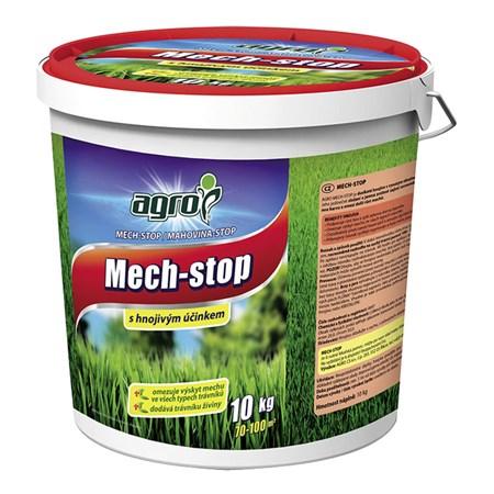 Hnojivo trávníkové AGRO MECH STOP 10 kg proti mechu kbelík
