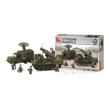 Stavebnice SLUBAN ARMY RAKETOVÁ JEDNOTKA M38-B6700