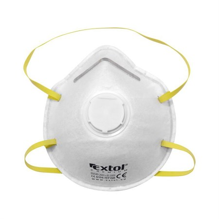 Respirátor - maska protiprašná s výdechovým ventilem FFP1, sada 5ks, tvarovaný, EXTOL PREMIUM