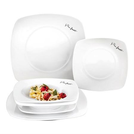 Sada jídelní 6ks DINE LAMART LT9002, talíře hranaté