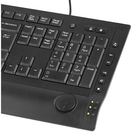 PC klávesnice YENKEE YKB 1010CS USB, tenká