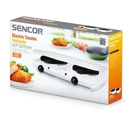 Vařič SENCOR SCP 2270WH dvouplotýnkový