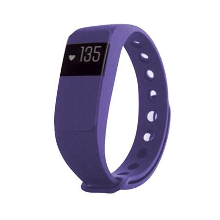 Fitness náramek s měřením tepu FT11, OLED, Bluetooth 4.0, Android+iOS fialová