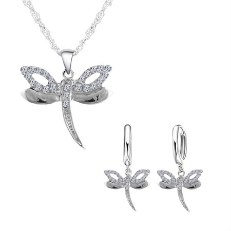 Šperk Set Dragonfly Silver- Stříbrná