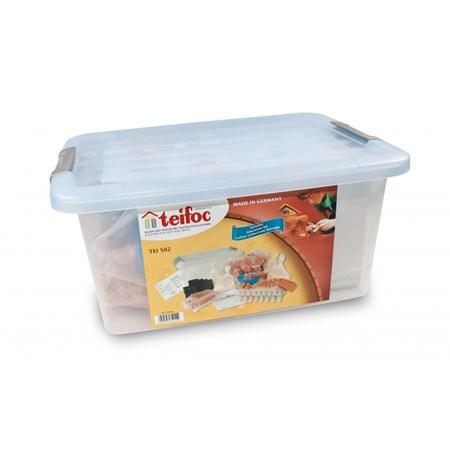 Stavebnice TEIFOC ŠKOLNÍ SET plastový box