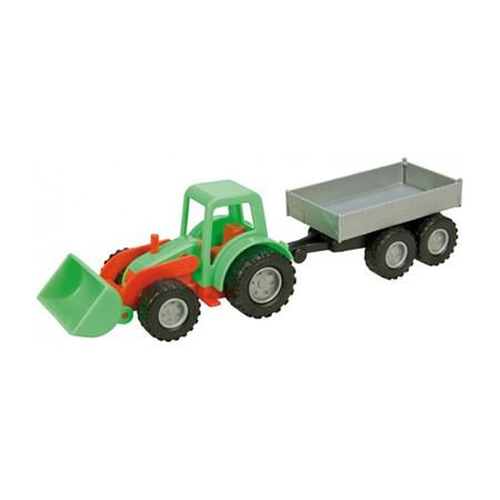 Traktor LENA MINI COMPACT s přívěsem 24 cm