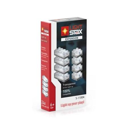 Stavebnice LIGHT STAX EXPANSION TRANSPARENT kompatibilní LEGO