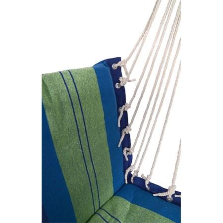 Houpací síť k sezení 95x50cm modro-zelená