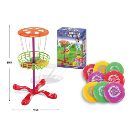 Hra dětská G21 FLYING DISK AND GOLF SET