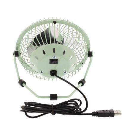 Ventilátor USB zelený HQ FN04GR