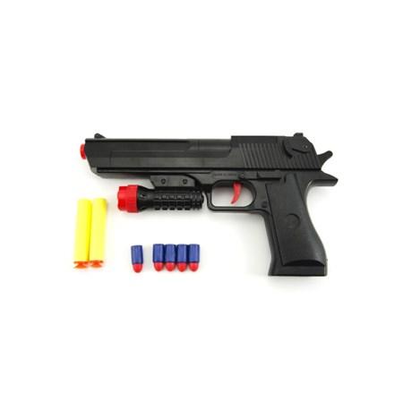 Pistole dětská TEDDIES GLOCK pěnové náboje