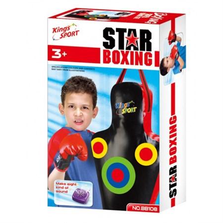 Pytel boxovací G21 STAR dětský se zvukem + rukavice