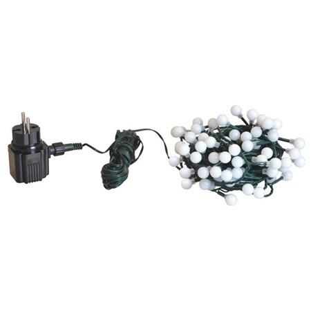 Řetěz vánoční 150 LED 20m barevná IP44 kuličky RETLUX RXL7