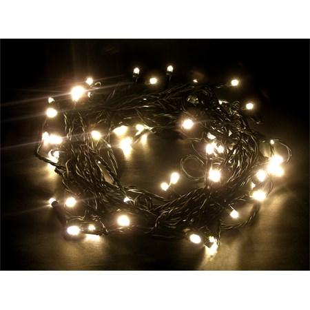 řetěz LED, 60 LED, 10m, přívod 3m, IP20, teplá bílá