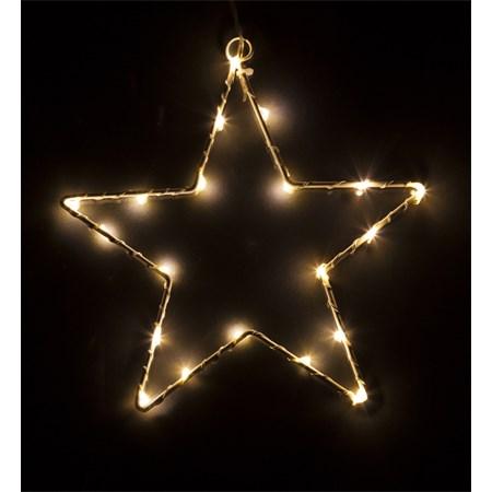 Vánoční ozdoba Hvězda 20 LED STAR WW 2xAA RETLUX RXL 60