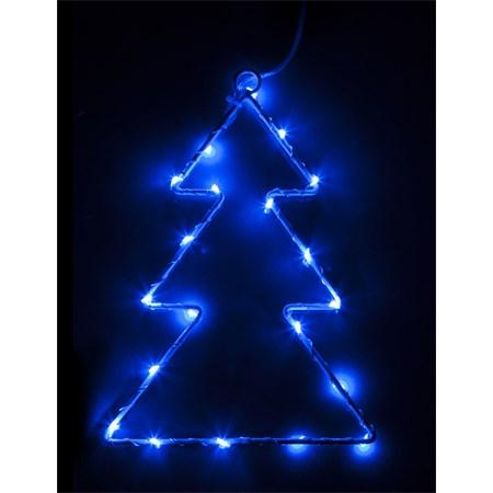Vánoční ozdoba Stromek 20 LED TREE Blue 2xAA RETLUX RXL 61
