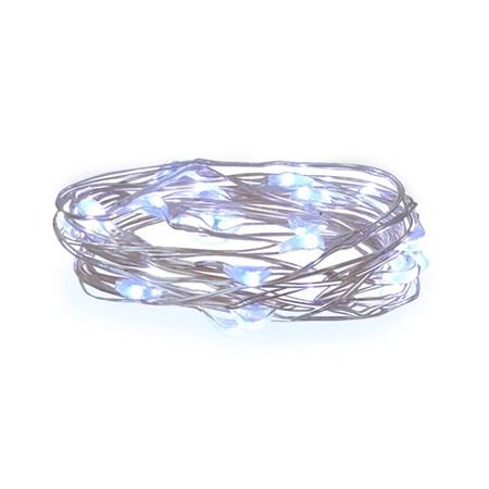Řetěz vánoční 30 LED, 3m, 3xAA, bílá studená