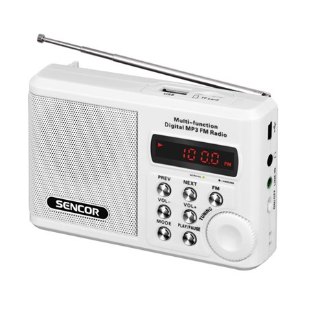 Rádio SENCOR SRD 215W USB/MP3