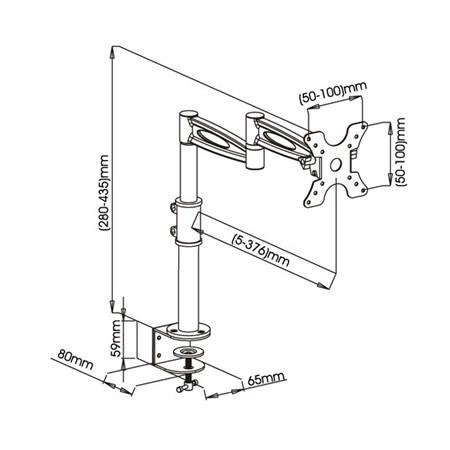 Držák na televizi SHO 1032 stolní, polohovatelný 13-30´´  STELL