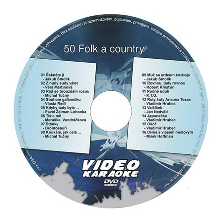 Karaoke DVD FOLK A COUNTRY