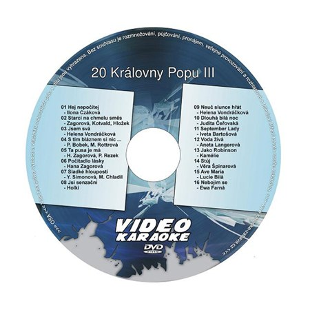 Karaoke DVD KRÁLOVNY POPU III