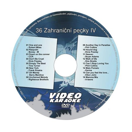 Karaoke DVD ZAHRANIČNÍ PECKY IV