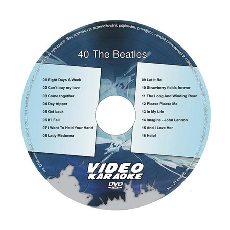 Karaoke DVD THE BEATLES