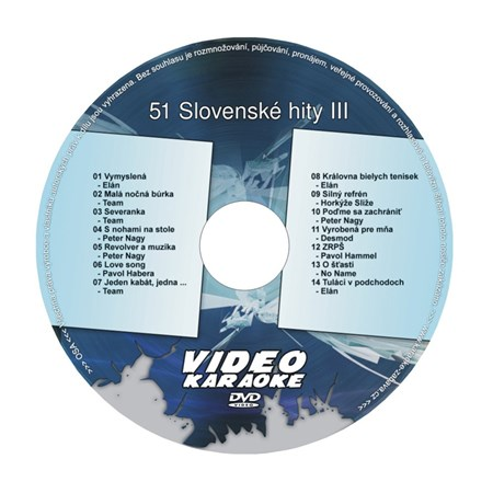 Karaoke DVD SLOVENSKÉ HITY III