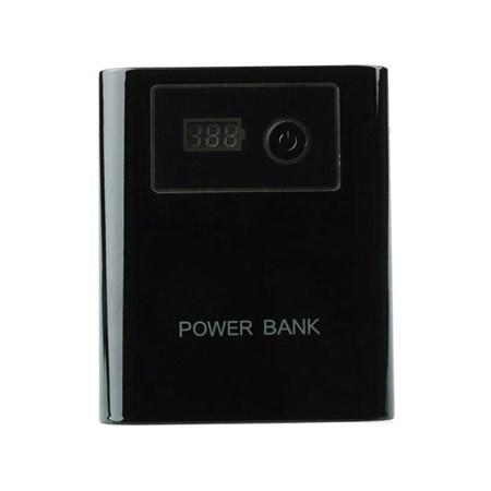 Externí baterie (Power bank) - 12 000 mAh, se světlem, LCD displejem, černá