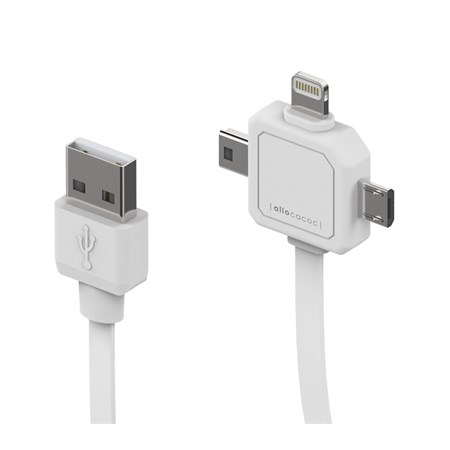 Kabel USB - Micro USB, Mini USB a Apple Lightning PowerCube 80cm
