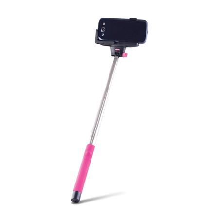 Selfie tyč se spouští BLUETOOTH FOREVER MP-100 růžová