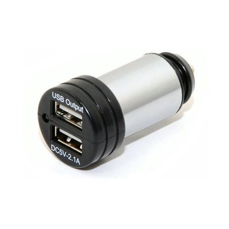 Nabíječka do auta 12-24V 5V/2100mA E homologace, USB